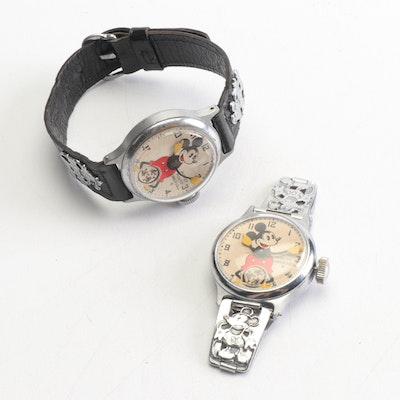 Vintage Ingersol Mickey Mouse Wristwatches