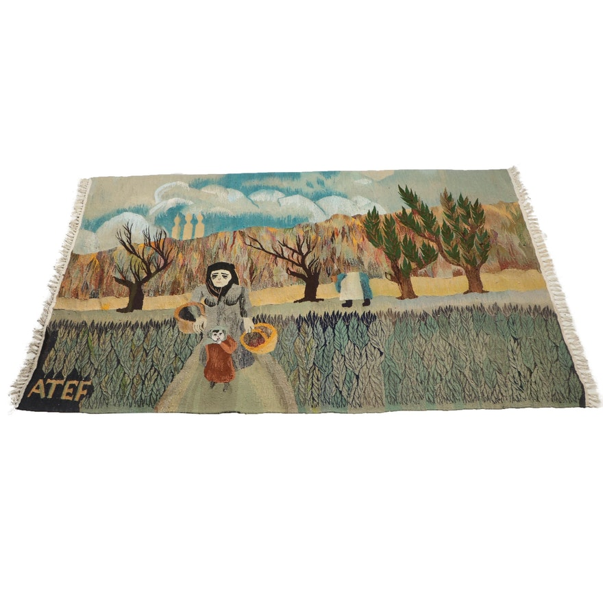 Turkish Hand Loomed Pictorial Rug