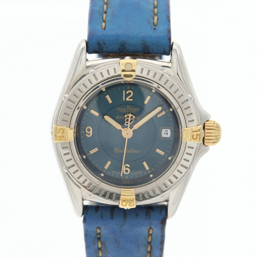 Breitling Callistino 18K Gold and Stainless Steel Quartz Wristwatch
