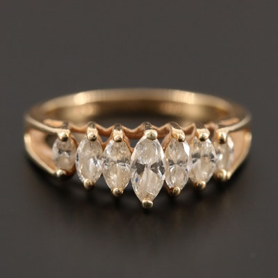 14K Yellow Gold 0.98 CTW Diamond Ring