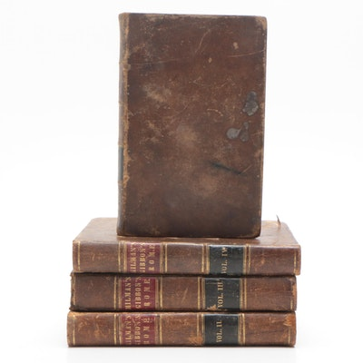 """1845 Edward Gibbon's """"The Decline and Fall of Rome"""" Complete Four Volume Set"""
