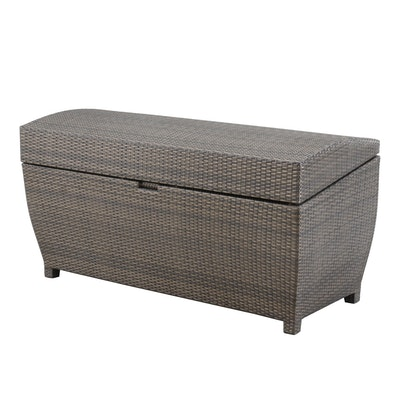 Frontgate All-Weather Wicker Patio Storage Chest, Contemporary