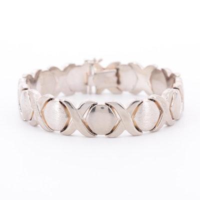 "Sterling Silver ""XOXO"" Bracelet"