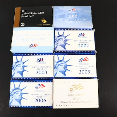 Eight U.S. Mint Proof Sets
