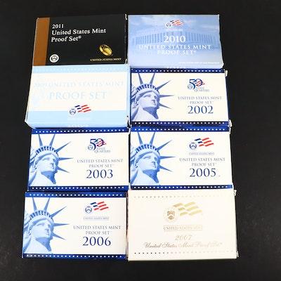 Eight U.S. Mint Proof Sets