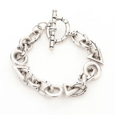 John Atencio Sterling Silver Toggle Bracelet