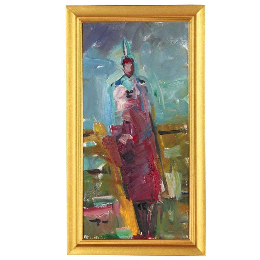 "Jose Trujillo Oil Painting ""Southwest"""