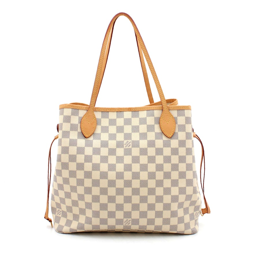 Louis Vuitton Damier Azur Coated Canvas Neverfull MM Tote