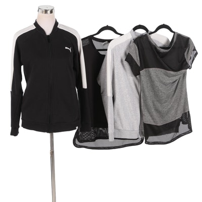 Women's Puma and Champion Activewear Jackets and Tops