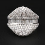 18K White Gold 2.67 CTW Diamond Ring