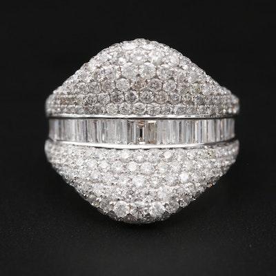 18K White Gold 2.67 CTW Diamond Ring