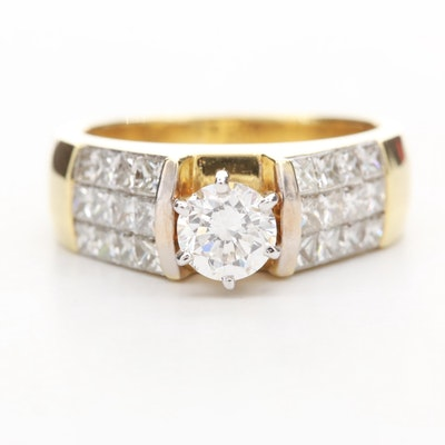 18K White Gold 2.12 CTW Diamond Ring