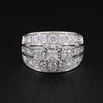 "14K White Gold 3.00 CTW Diamond ""Past, Present, Future"" Ring"
