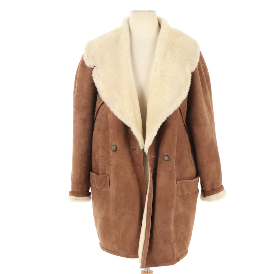 Accordi Sheepskin and Shearling Double-Breasted Jacket