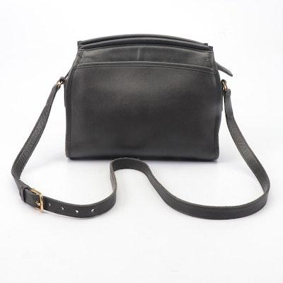 Coach Black Leather Shoulder Bag, Vintage