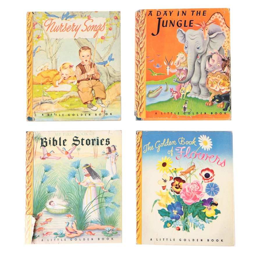 Collection of Little Golden Books Children's Stories, 1943