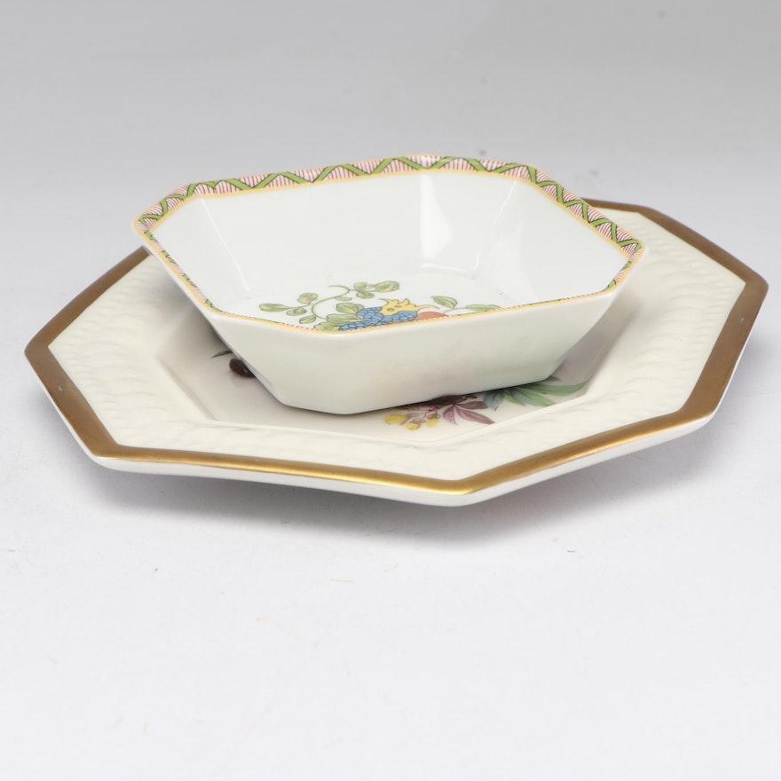 Porcelain Bird Plaque with Trinket Dish
