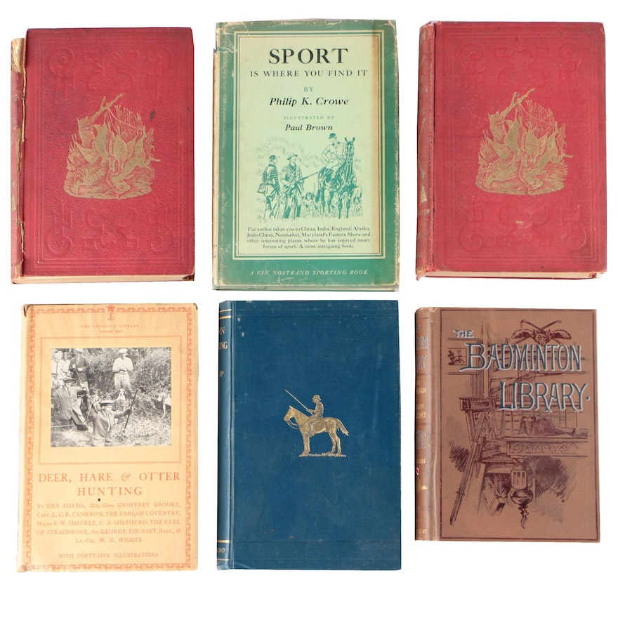 "Hunting Books featuring Signed Limited Edition ""Sport"" by Philip K. Crowe, 1953"