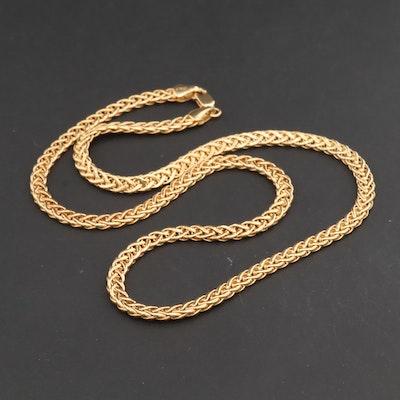 14K Yellow Gold Espiga Chain Necklace