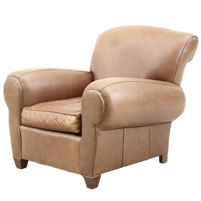 Mitchell Gold Leather Arm Chair, Contemporary