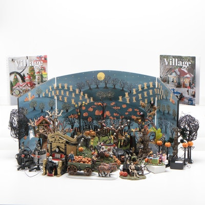 "Department 56 ""Halloween"" Village Accessories and Figurines"