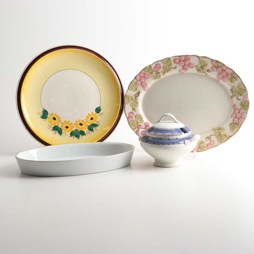 "Royal Worcester, Metlox ""Poppy Trail"" and Other Porcelain and Serveware"