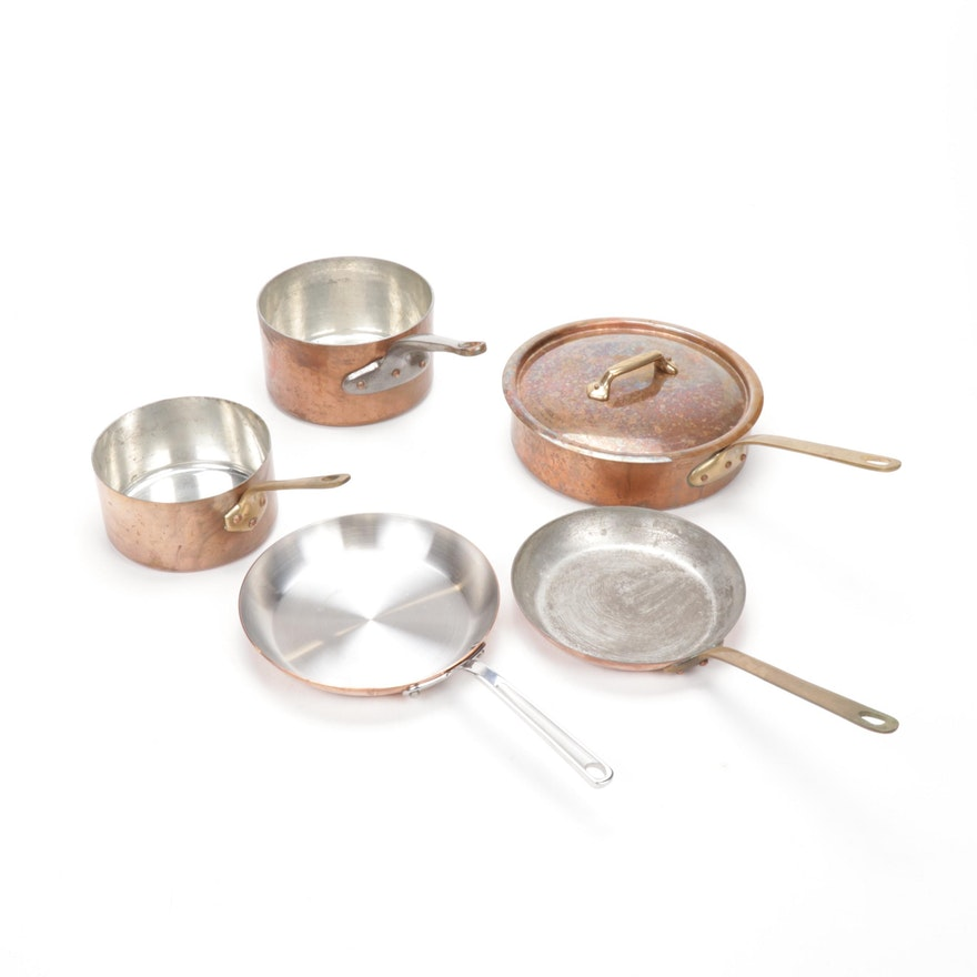 Copper Cookware Including Mauviel and The Design Store France