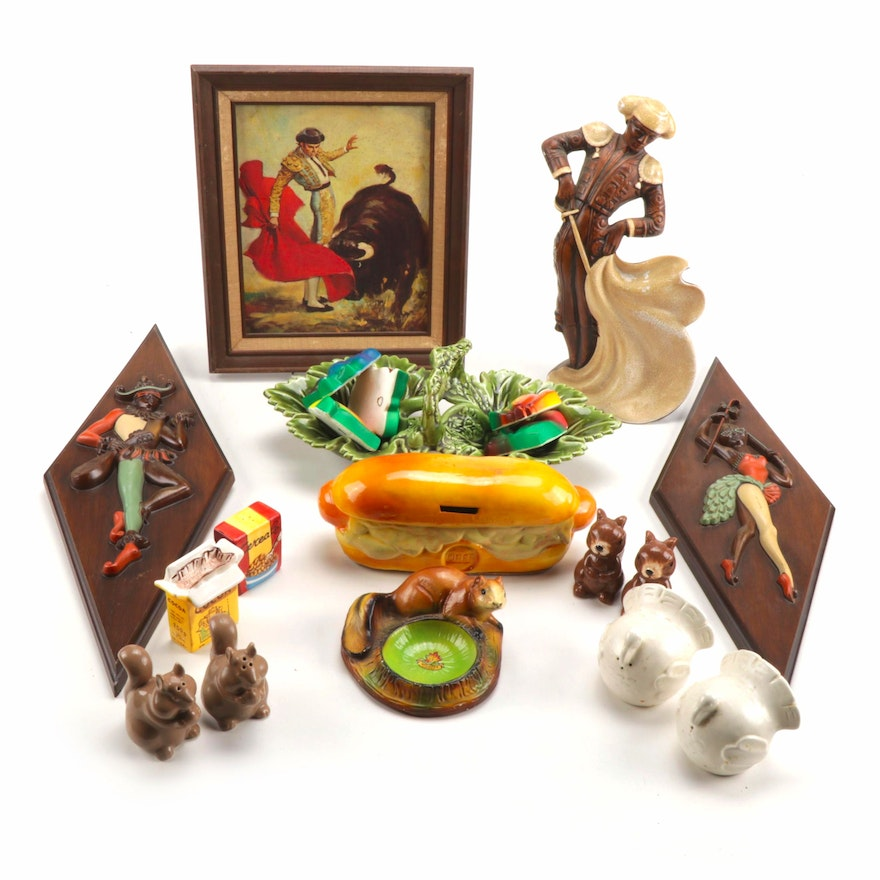Figural Vintage Wall & Table Decor