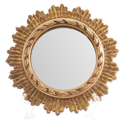 Regency Style Giltwood Round Mirror, Circa 1930