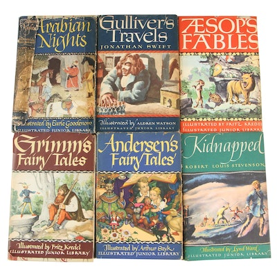 Illustrated Junior Library Set including Grimm's and Andersen's Fairy Tales