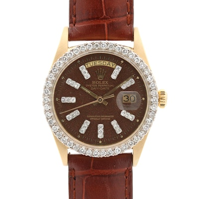 Rolex Day - Date 18K Gold and 2.21 CTW Diamond Wristwatch