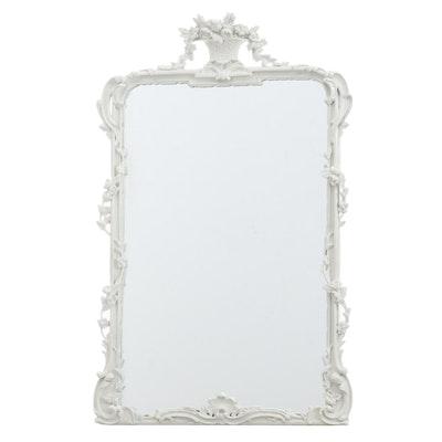 """Rococo Style Furnso """"Panier de Fleur"""" Wall Mirror"""