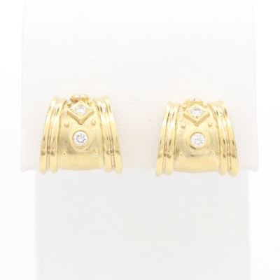SeidenGang 18K Yellow Gold Diamond Earrings