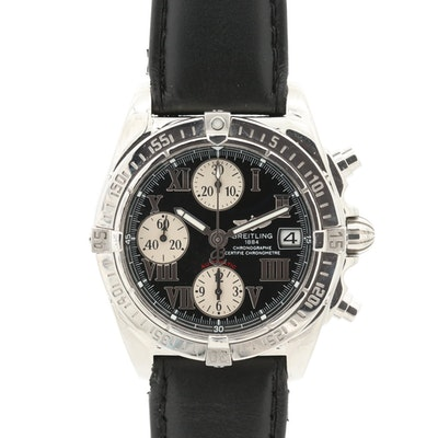Breitling Chrono Cockpit Stainless Steel Automatic Wristwatch