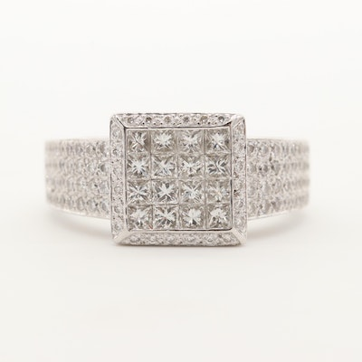 18K White Gold 1.43 CTW Diamond Ring