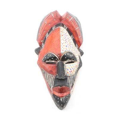 Decorative Wooden Tikar Style Mask