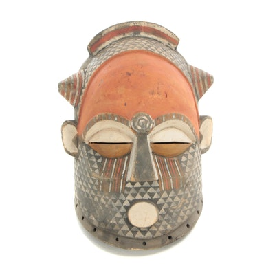 Decorative Kuba Style Helmet Mask