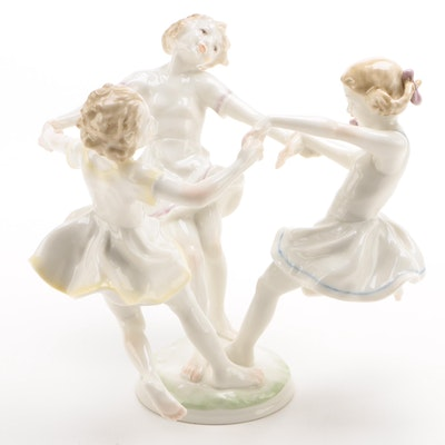 "Hutschenreuther ""May Dance"" Porcelain Figurine, U.S. Zone Germany, 1946 -1948"