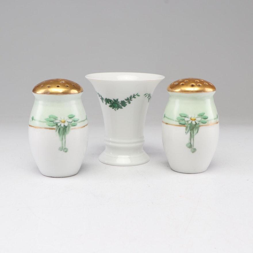 Furstenberg Porcelain Vase and Other Porcelain Salt and Pepper Shakers