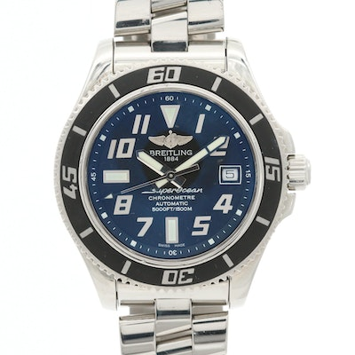 Breitling Super Ocean 42 Stainless Steel Automatic Wristwatch