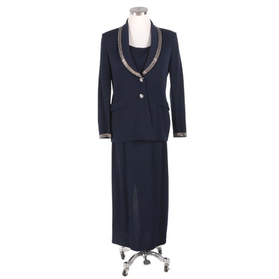 St. John Evening and St. John Basics Midnight Blue Wool Coordinating Separates