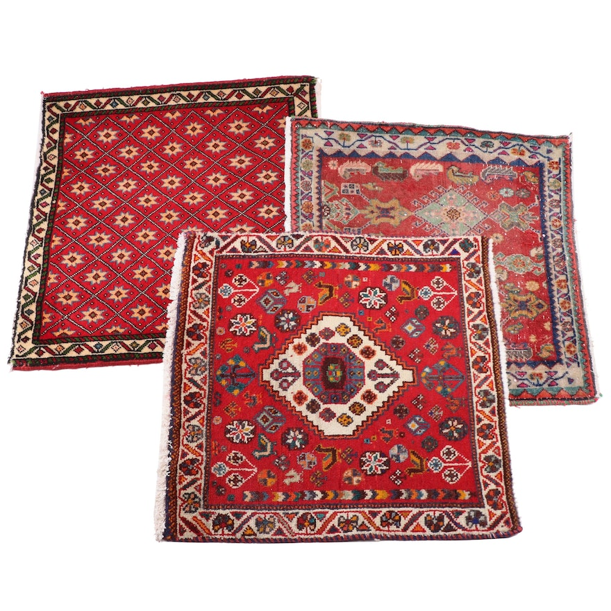 Hand-Knotted Wool Floor Mats