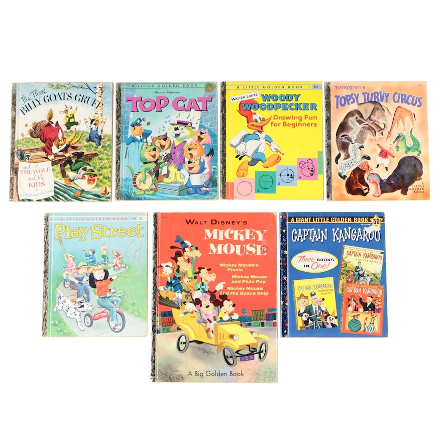 "Little Golden Books with Big Golden Book ""Walt Disney's Mickey Mouse"""