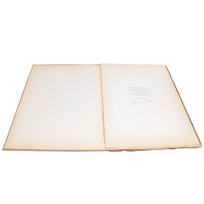 Augustin Fernandez Signed Art Portofolio Book