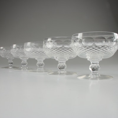 "Waterford Crystal ""Colleen"" Low Sherbet Glasses, Mid/Late 20th Century"
