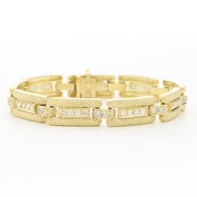 Vintage 18K Yellow Gold 1.62 CTW Diamond Bracelet