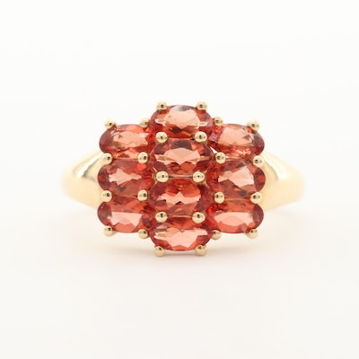 14K Yellow Gold Andesine Ring