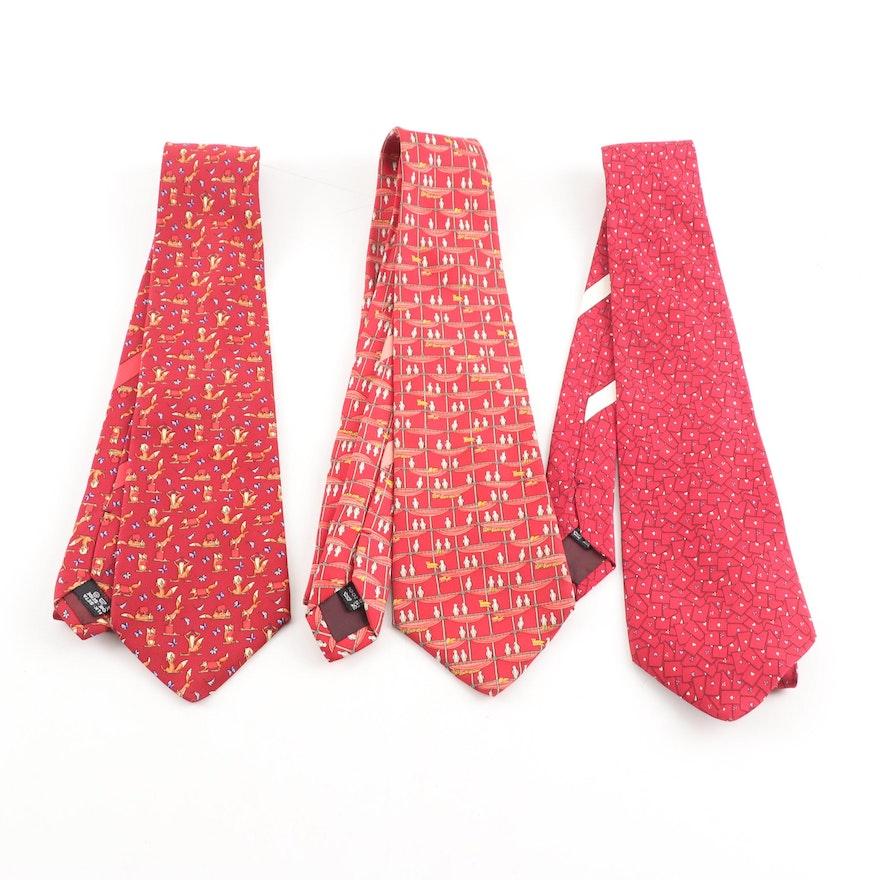 Salvatore Ferragamo Silk Faille Neckties