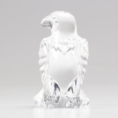 "Steuben Art Glass ""Eagle"" Hand Cooler"