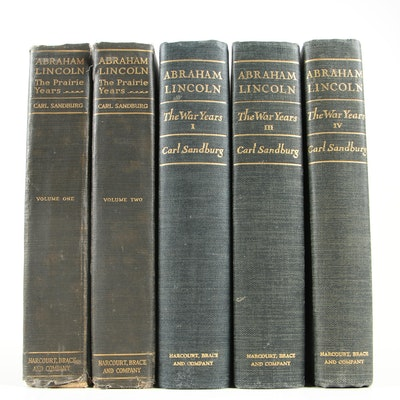"""Signed First Trade Edition """"Abraham Lincoln: The Prairie Years"""" Vol. I and More"""